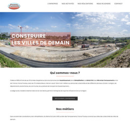 Home page site internet France Travaux